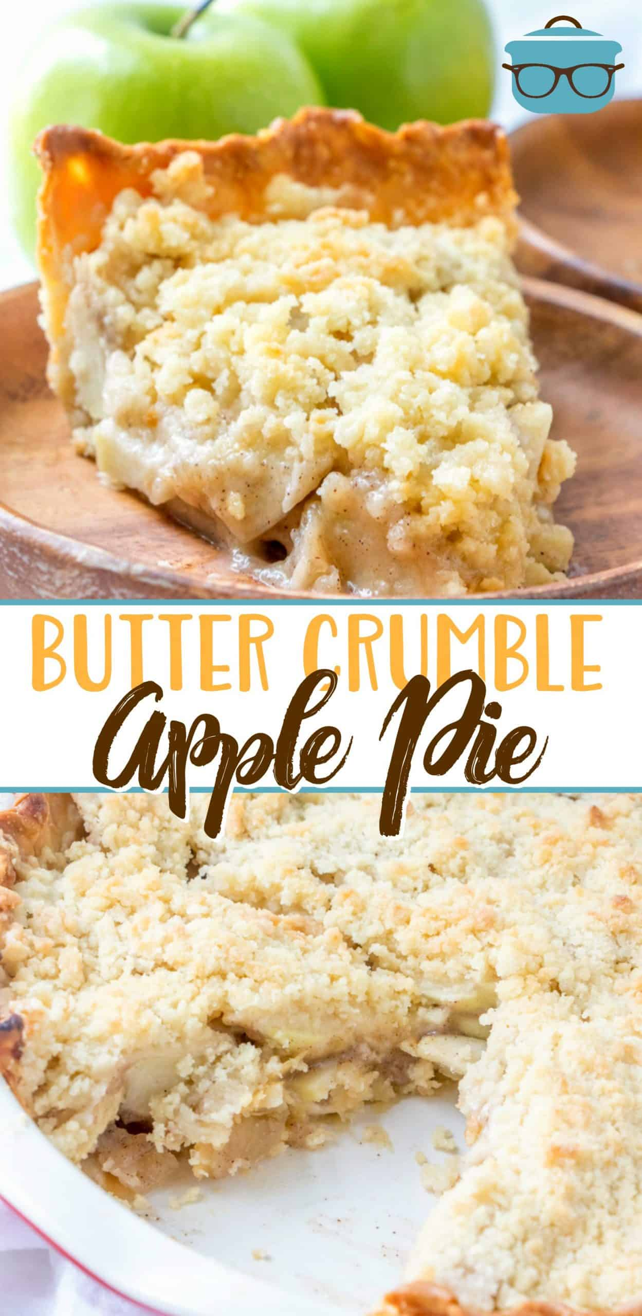 Butter Crumble Apple Pie is hands-down the best apple pie recipe there is. An easy, flaky crust, amazing filling and butter crumble topping!