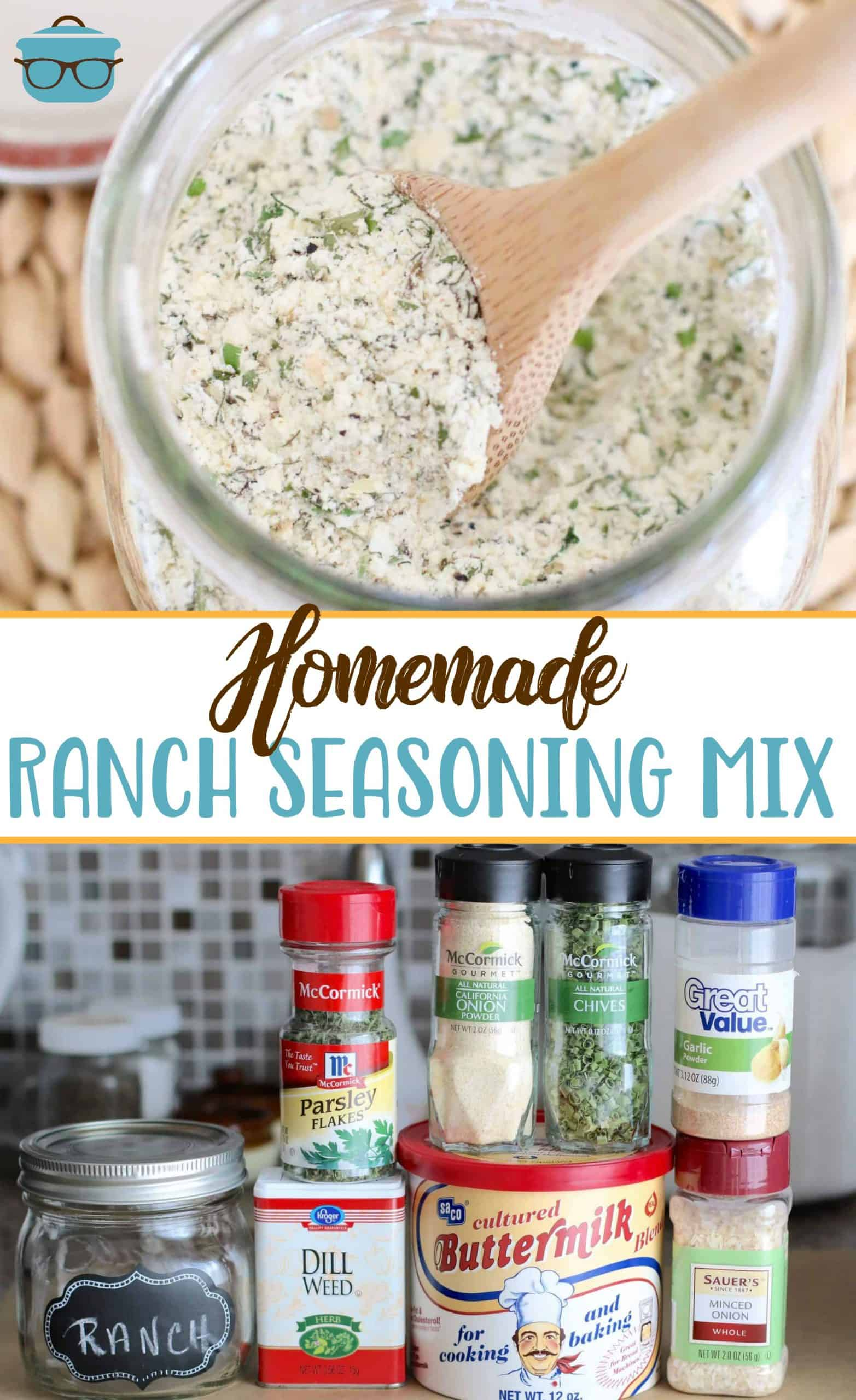 Homemade Ranch Dressing Mix is a dry powder mix that can be used to make salad dressing or as a seasoning in recipes.