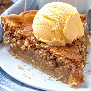 The Best Oatmeal Pie recipe