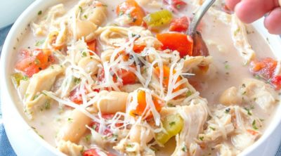 Slow Cooker Creamy Tuscan Chicken Soup