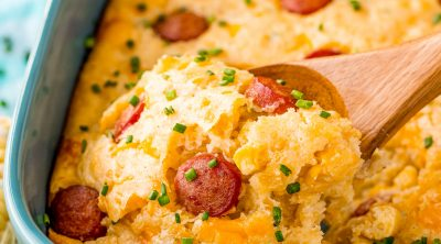 Hot Dog Corn Casserole recipe