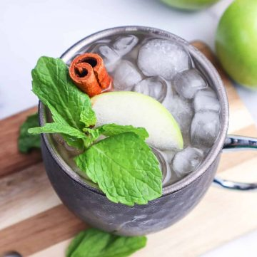 Apple Cider Moscow Mule with Fireball