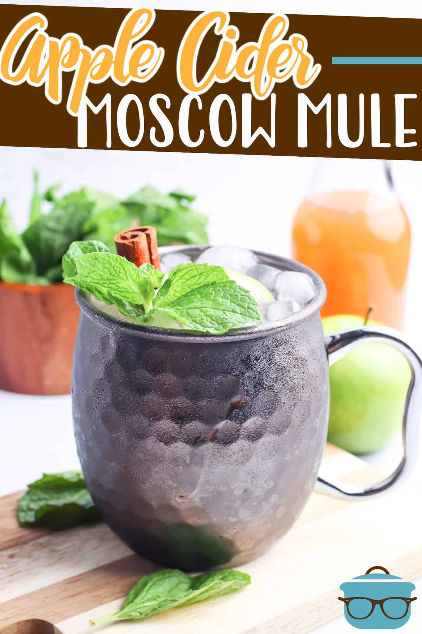 This Apple Cider Moscow Mule recipe is the fall drink! It is is like a spiked apple cider but with a cinnamon twist from Fireball Whisky.