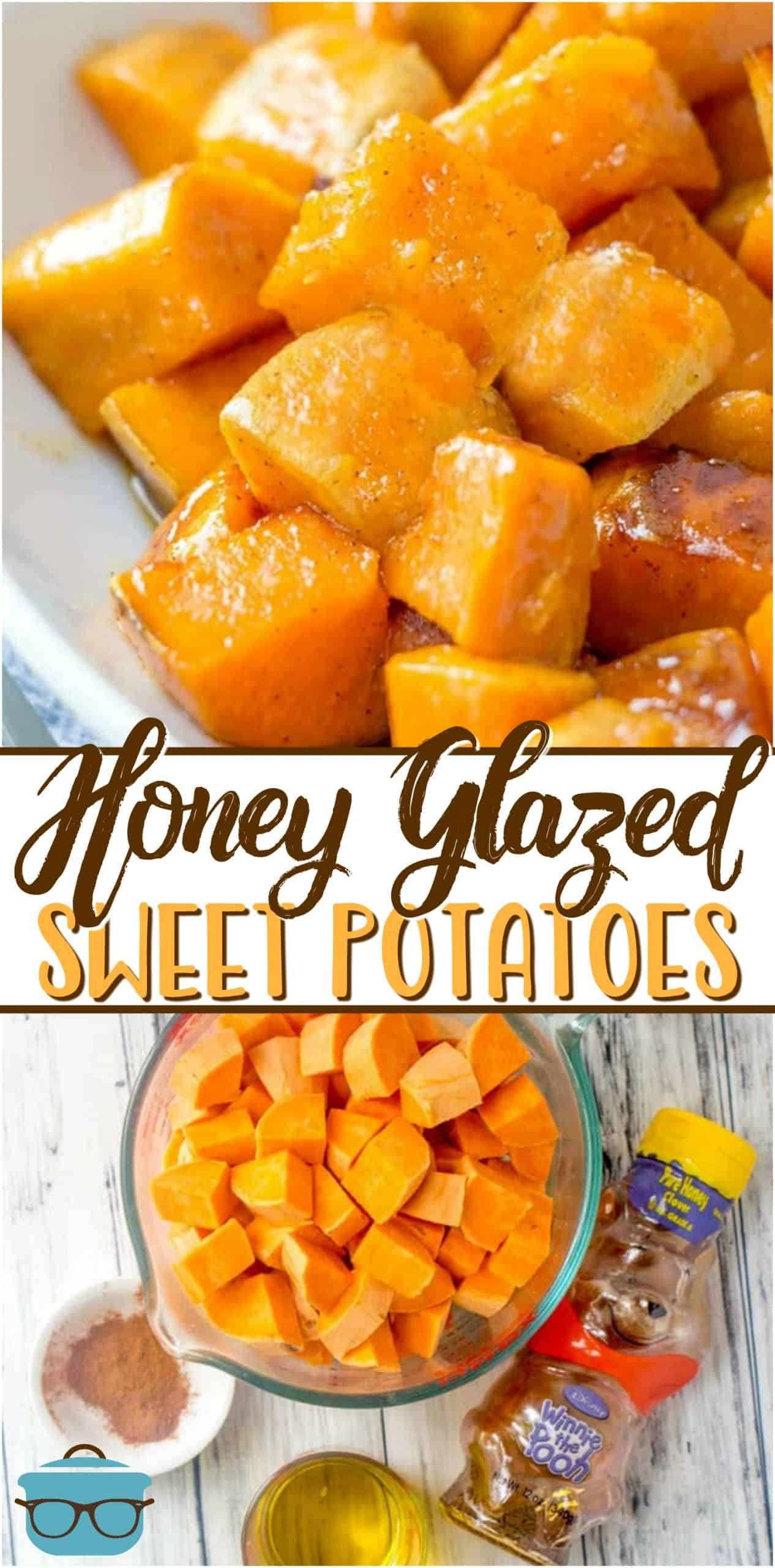 Only four ingredients are needed to make these deliciously easy Honey Glazed Sweet Potatoes! It's all made in minutes on the stovetop!