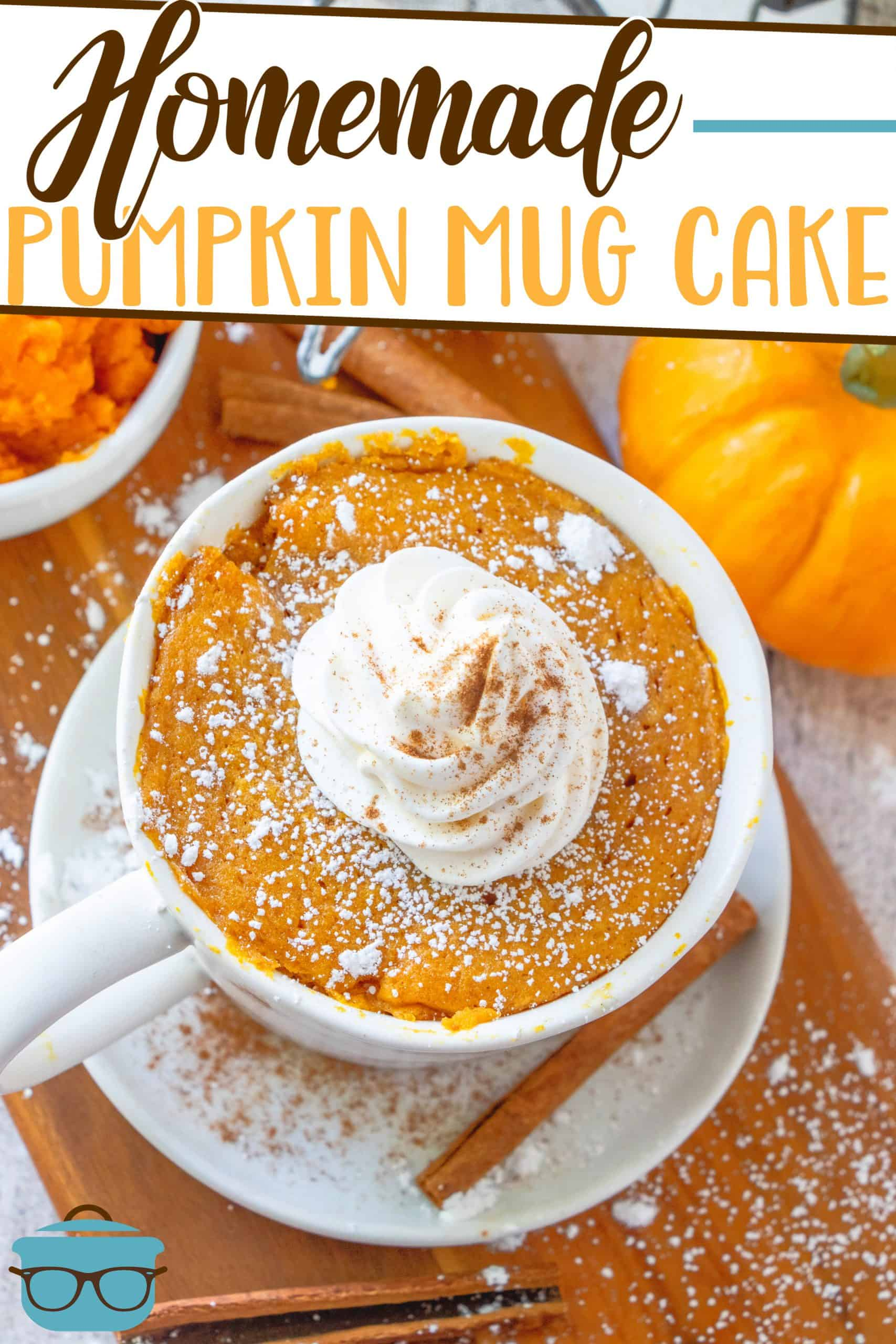 This Homemade Pumpkin Mug Cake recipe is made with easy-to-find ingredients and can easily be made within five minutes!