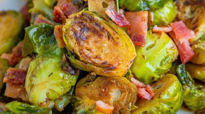 Stovetop Brussel Sprouts with Bacon