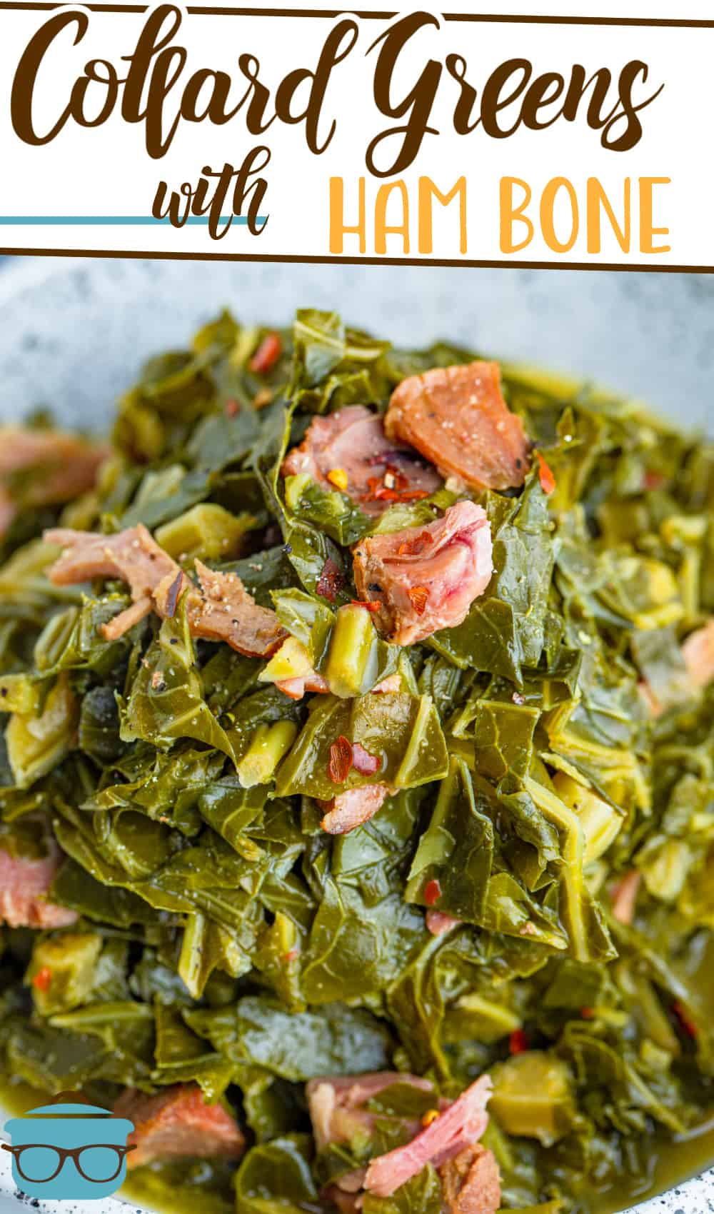 This Collard Greens with Ham Bone recipe is a classic southern side dish that is so simple to make and works great with leftover ham.