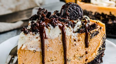 Instant Pot Oreo Pumpkin Cheesecake recipe