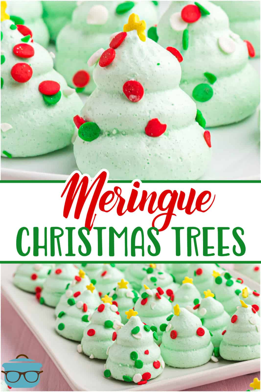 These Easy Meringue Christmas Trees are so simple to make, taste delicious and are absolutely adorable! Kids and adults love these meringue treats!