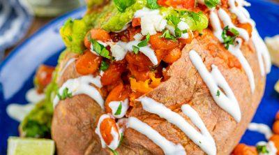 Vegetarian Taco Stuffed Sweet Potatoes recipe