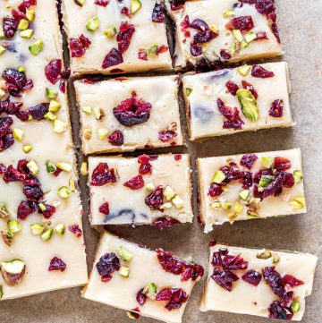 Easy White Chocolate Cranberry Pistachio Fudge recipe