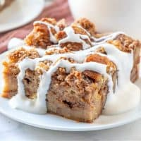 Homemade Hot Chocolate Bread Pudding recipe