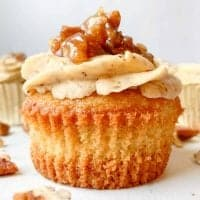 Homemade Pecan Pie cupcake with Pecan Frosting
