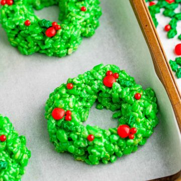 Rice Krispies Christmas Wreaths recipe