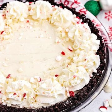 White Chocolate Peppermint Pie recipe