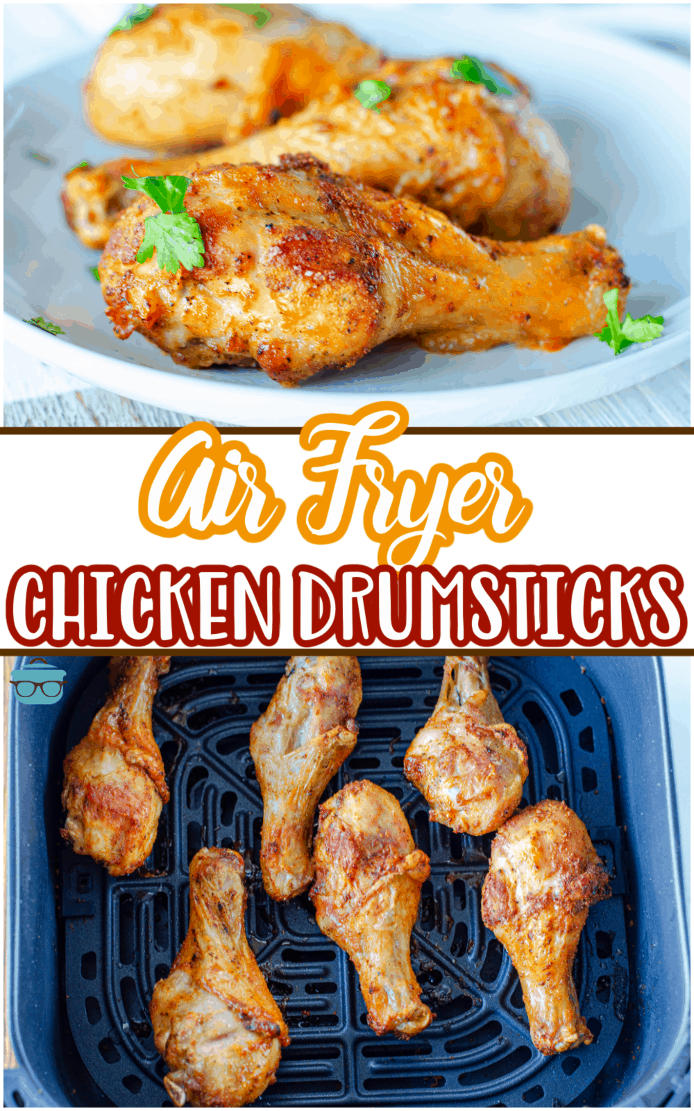 A crispy and delicious recipe with minimal and simple ingredients and ready in under 20 minutes! These Air Fryer Chicken Drumsticks are the perfect meal to serve any day of the week!