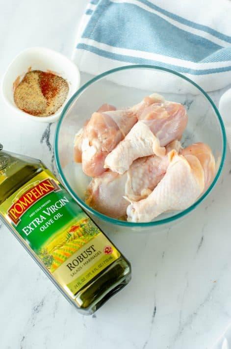 Ingredients needed to make Air Fryer Chicken Drumsticks