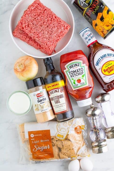 Ingredientes necessários para fazer Crock Pot Meatloaf