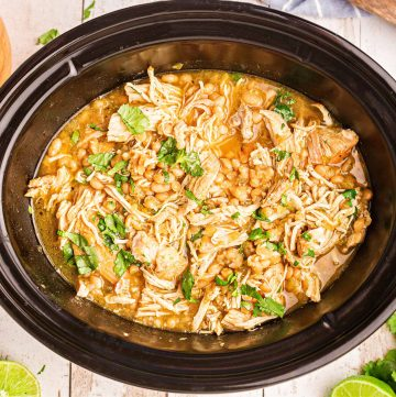 White Chicken Chili in Crock Pot square image