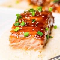 EASY BAKED TERIYAKI SALMON