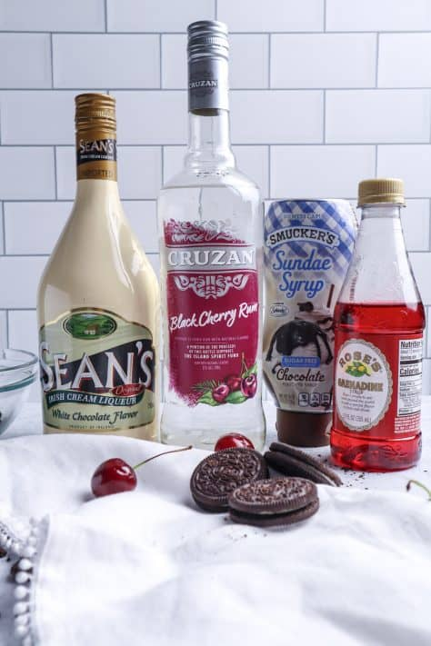 Ingredients need to make a Cherry Garcia Martini