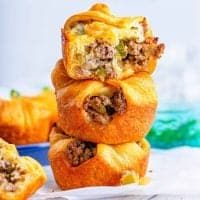 Stacked philly cheesesteak cups square image