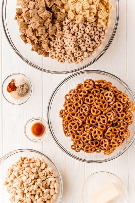 Ingredients need to make The Best Party Chex Mix