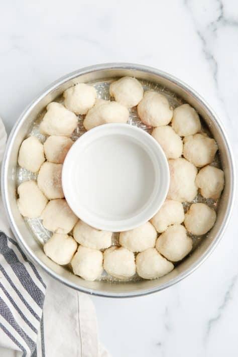 Pretzel Bites in cake pan