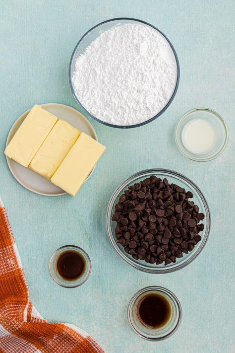 Ingredients needed to make Guinness Buttercream Chocolate Frosting