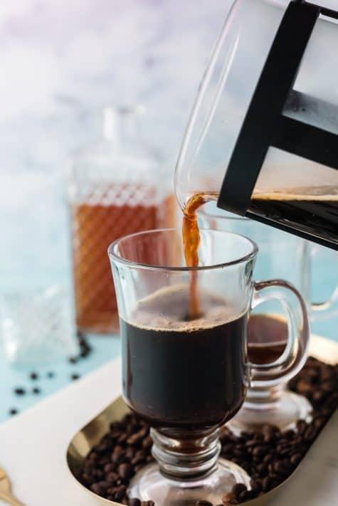 Coffee being poured into mug