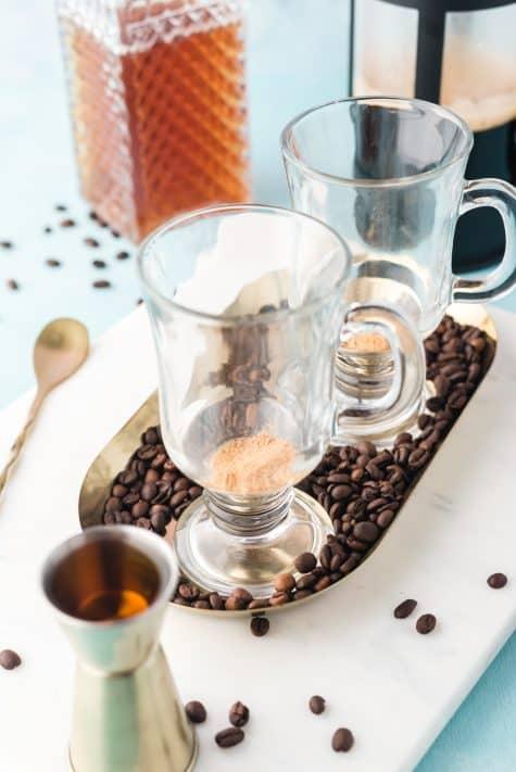 Sugar added to mug