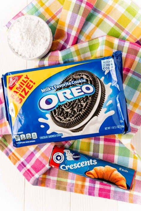 Ingredients needed to make Air Fryer Fried Oreos