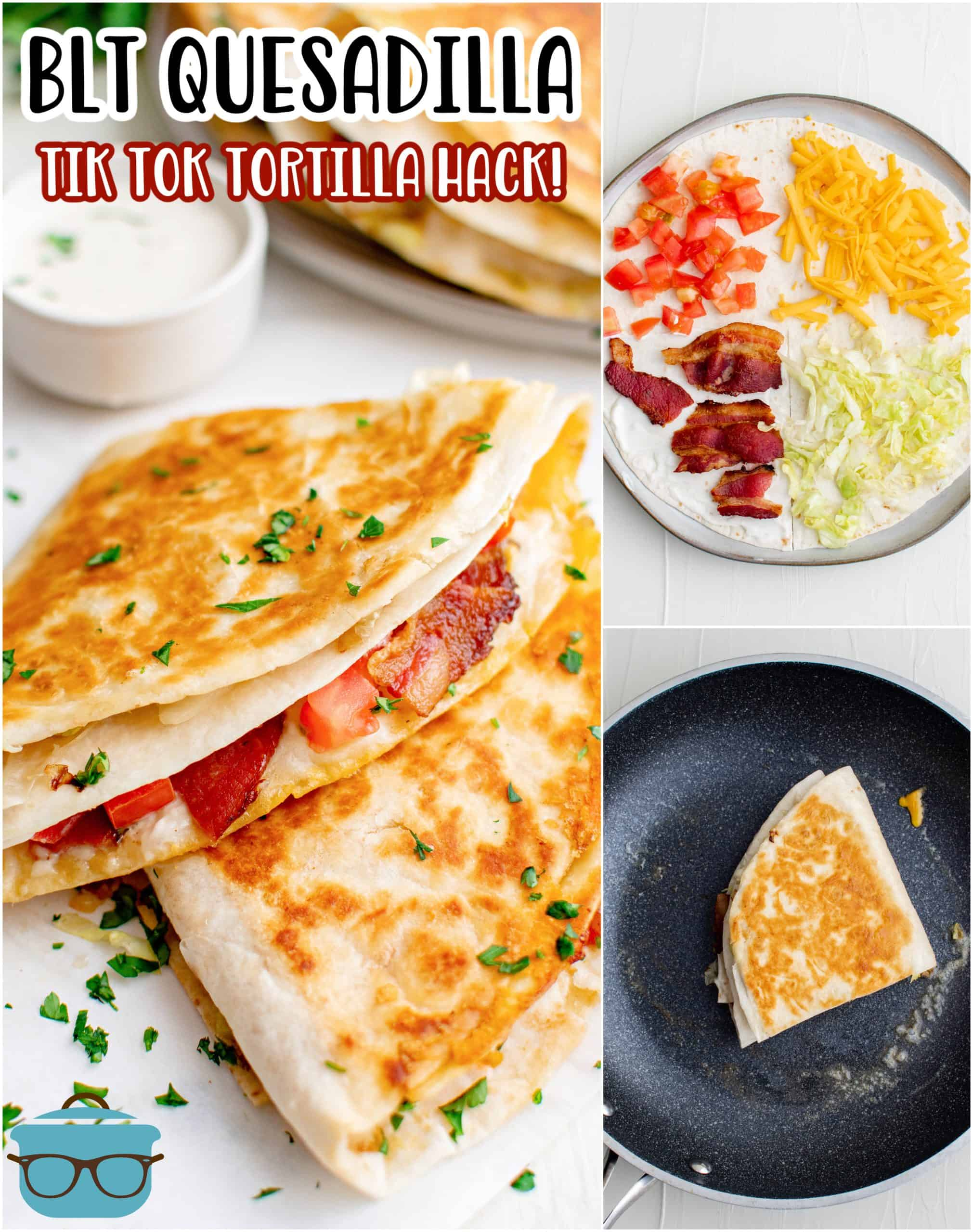 Looking for a fun and quick recipe that is absolutely delicious and has minimal ingredients? You need to make this BLT Quesadilla! A fun TikTok Tortilla hack we love.
