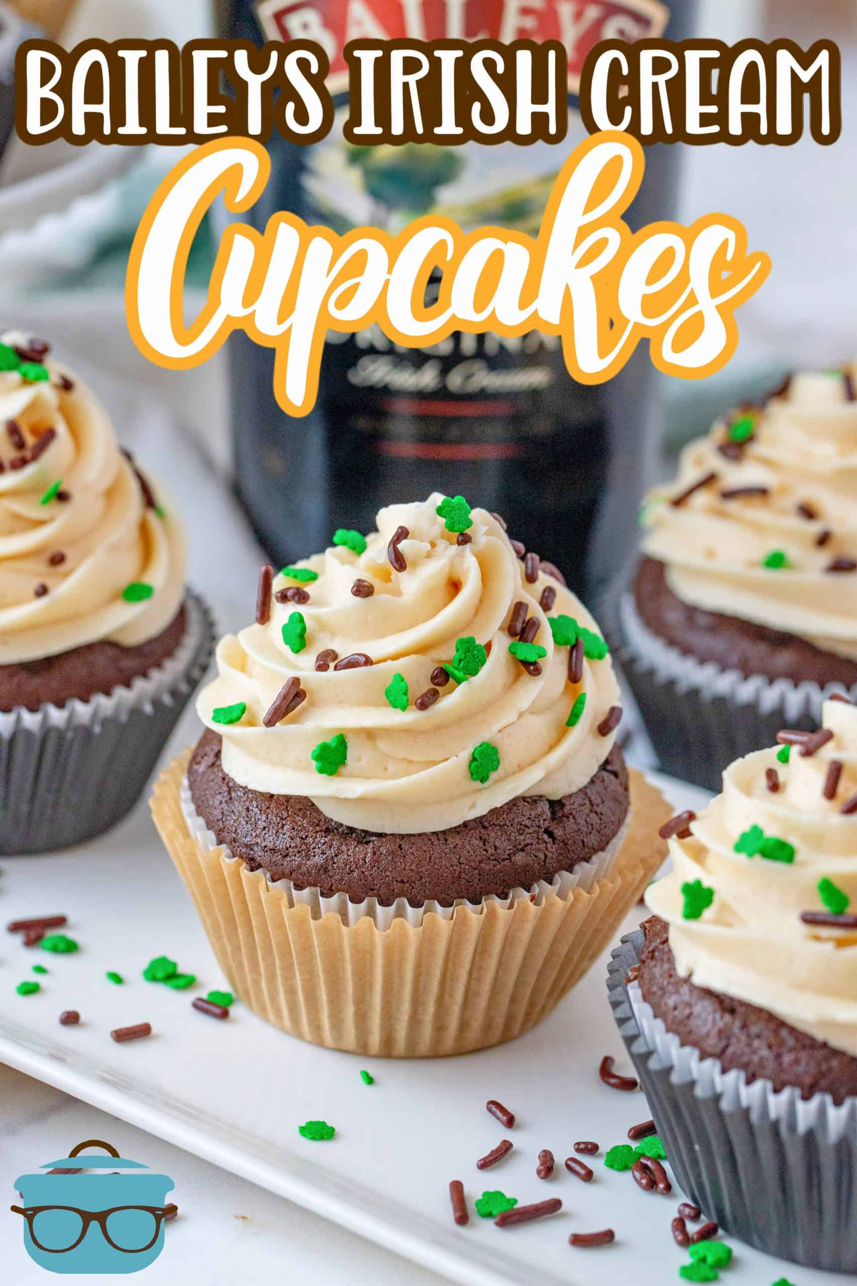 If you love chocolate and Irish Cream then you will absolutely love these Homemade Baileys Cupcakes! A spiked cupcake topped with a Baileys frosting. Every bite is pure deliciousness.