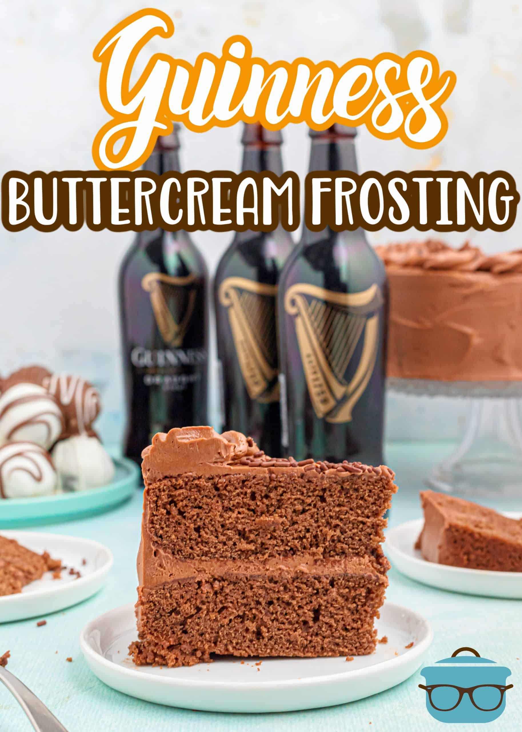 This Guinness Chocolate Buttercream Frosting is a smooth, rich, delicious frosting that has the perfect chocolate flavor and just a hint of Guinness stout beer.