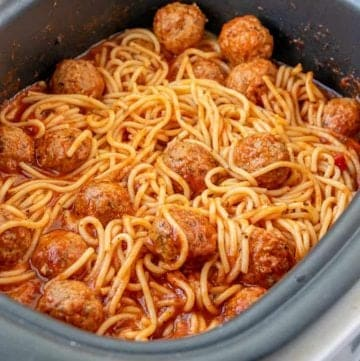 Crock Pot Spaghetti and Meatballs recipe