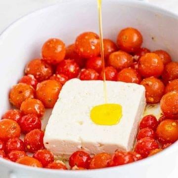 Tik Tok Famous Baked Tomato Feta Pasta recipe