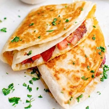 Thumbnail image of two BLT Quesadillas stacked on top of one another