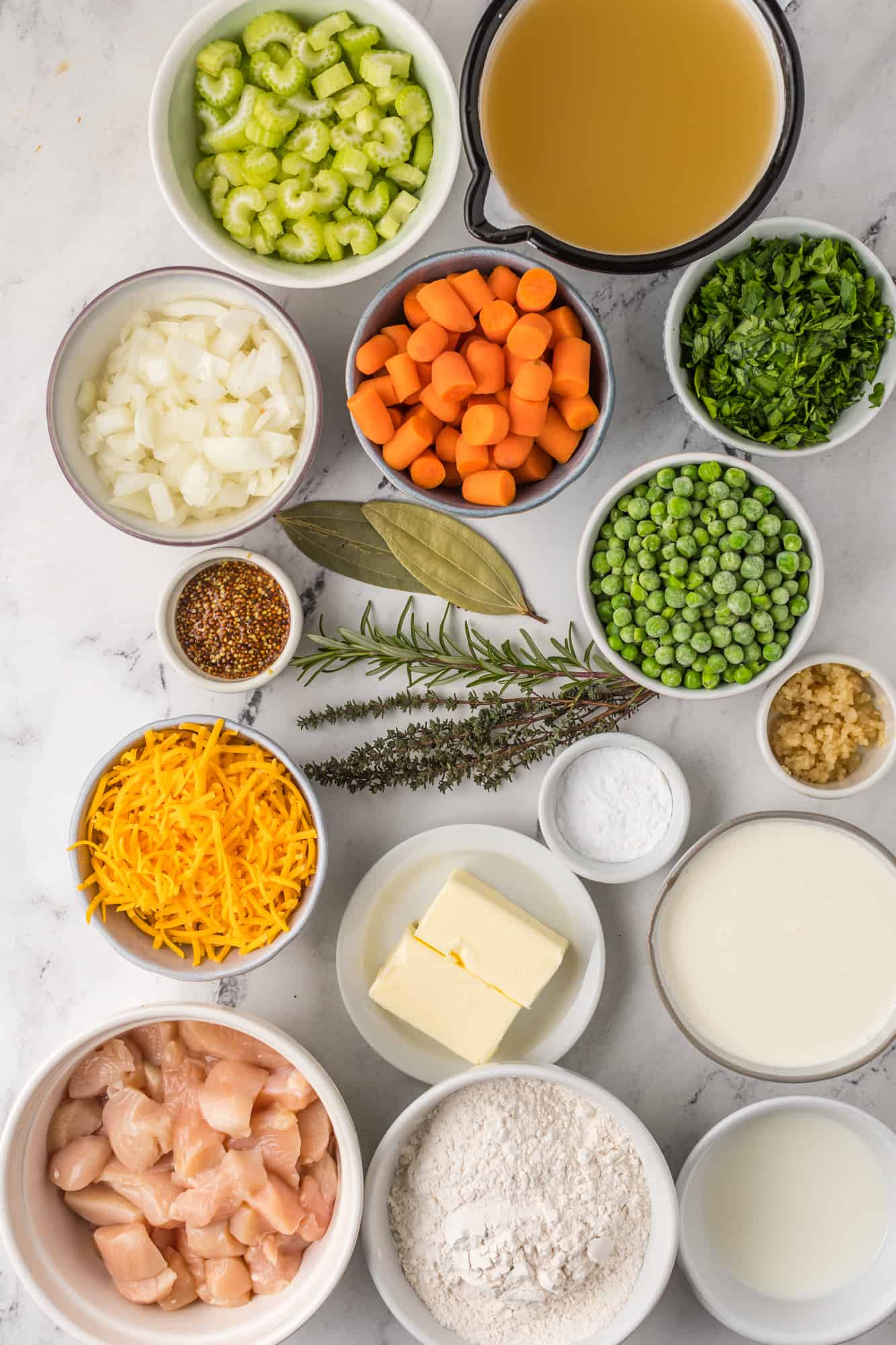Ingredients needed to make Crock Pot Chicken and Cheese Dumplings