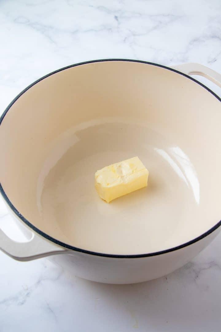 Butter in dutch oven