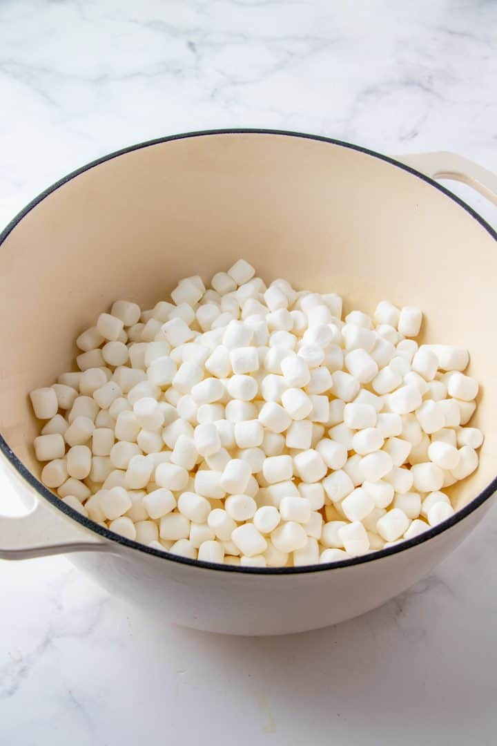 Marshmallows added to butter