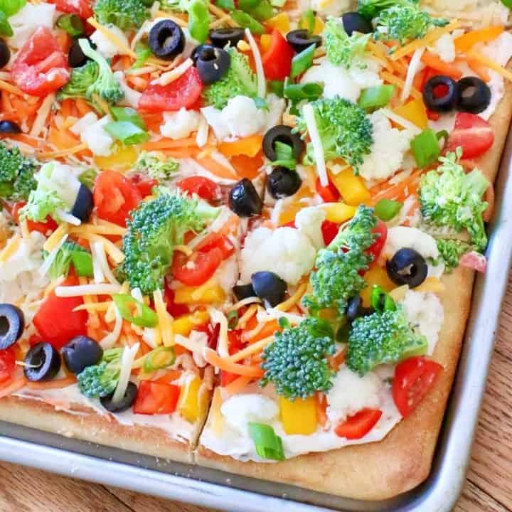 Easy Fresh Vegetable Pizza