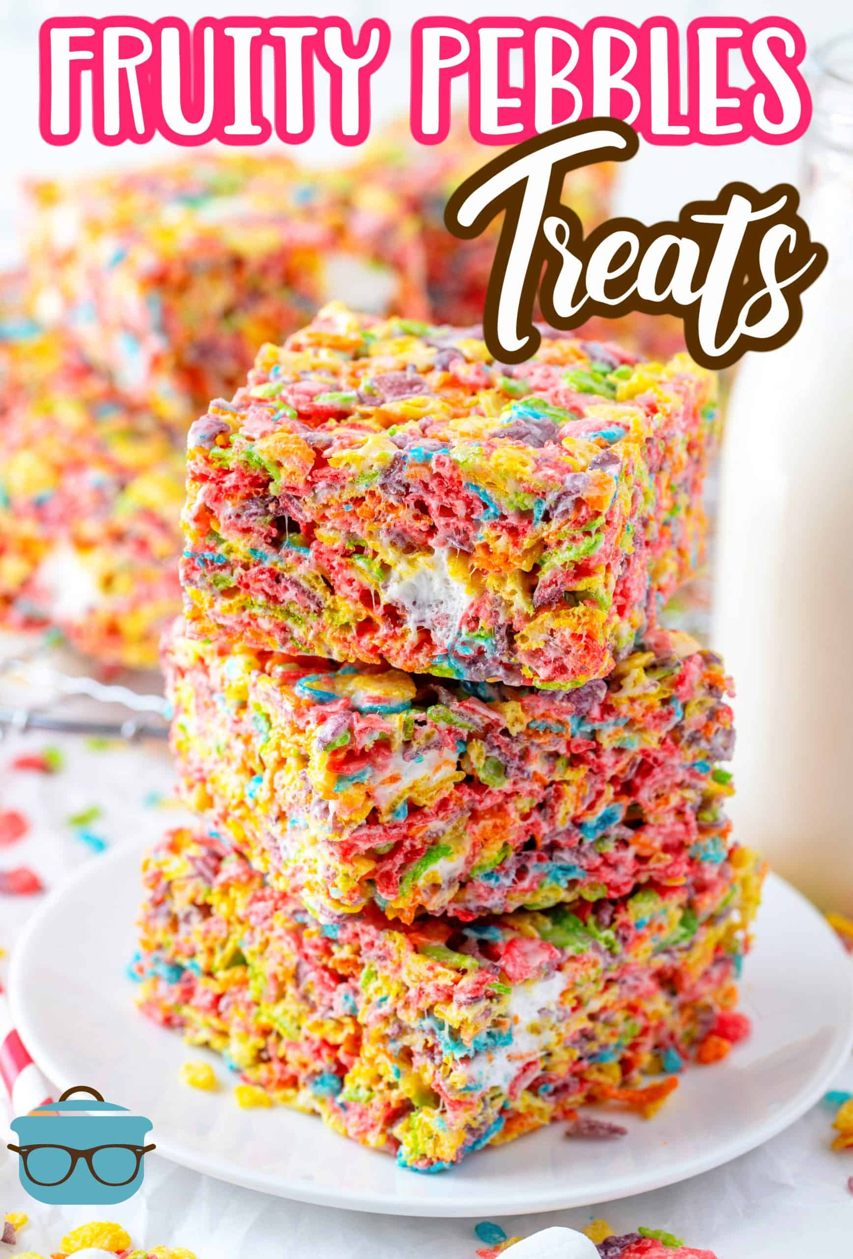 With only 3 ingredients, these Fruity Pebbles Treats are a fun, easy and absolutely tasty bar that comes together quickly and the whole family loves!