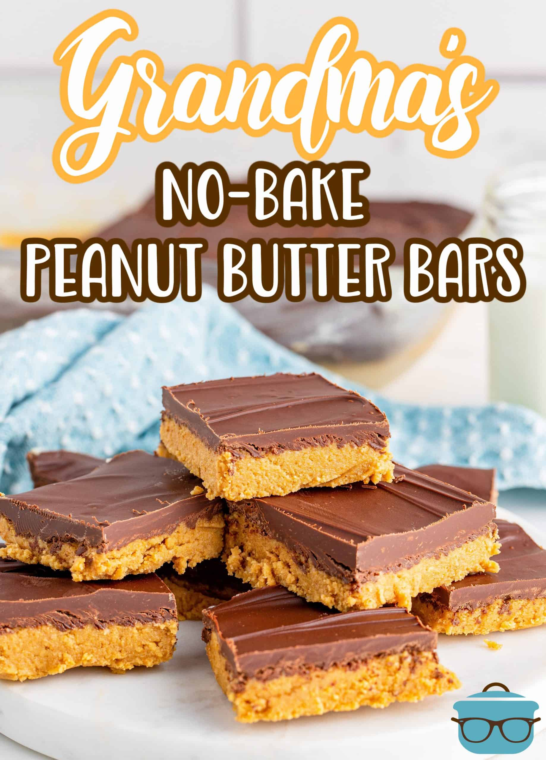 With only five ingredients, Grandma's Peanut Butter Bars are a classic recipe that are nostalgic and delicious. They taste like the bars that were served in school cafeterias back in the day.