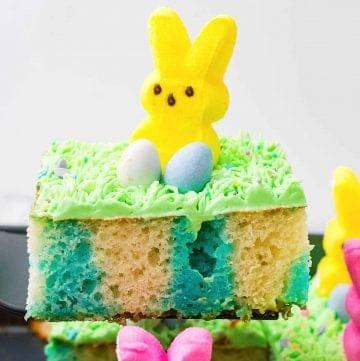 Easter Bunny Poke Cake