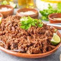 Square image of Barbacoa on platter