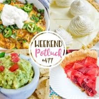 Weekend potluck recipes include: Creamy Lemon Pie, Easy Tamale Casserole, Super Simple Guacamole, Fresh Strawberry Pie