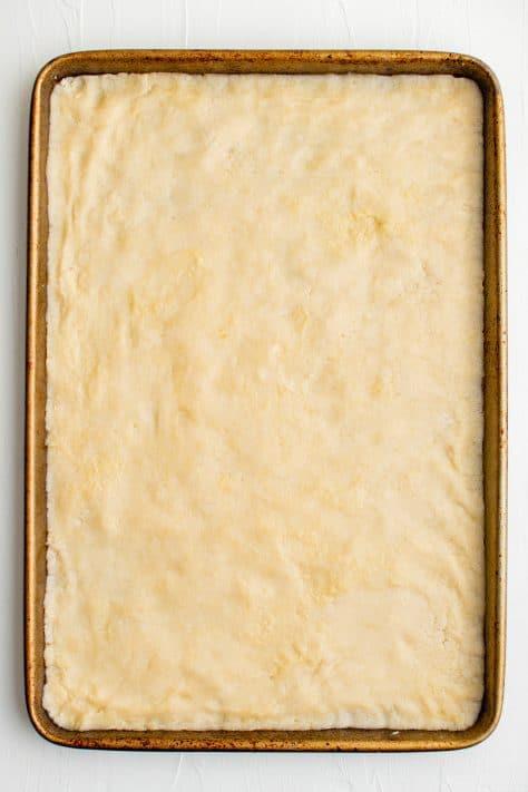 Crust pressed into prepared pan