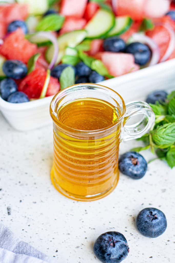 Lime Honey Dressing in cup
