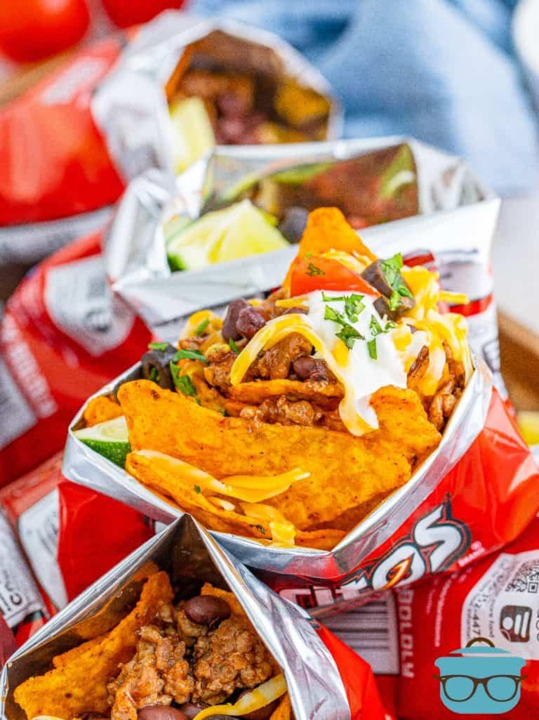 Overhead photo of Doritos Walking Tacos in bag